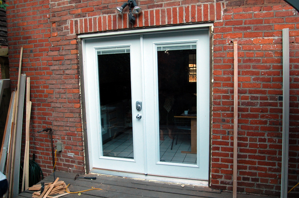 Installing french doors exterior