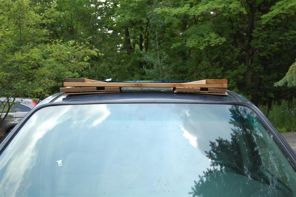 A Diy Roof Rack Make Your Small Car Carry Big Stuff