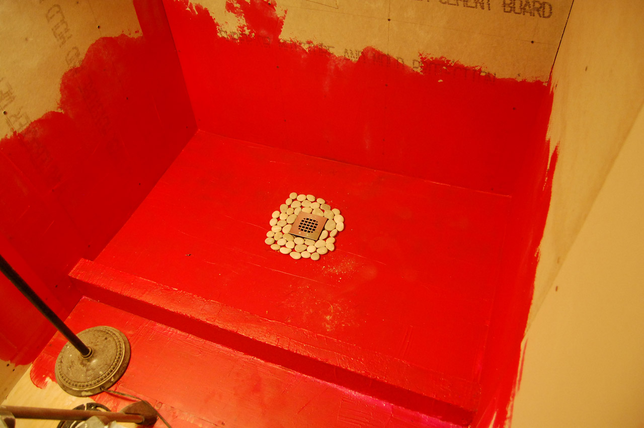 How To Build A Shower Pan Using Red Guard