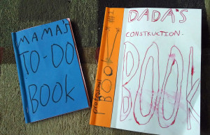 Little MM tends to make his own gifts for giving: these handy notebooks for his parents were big hits.