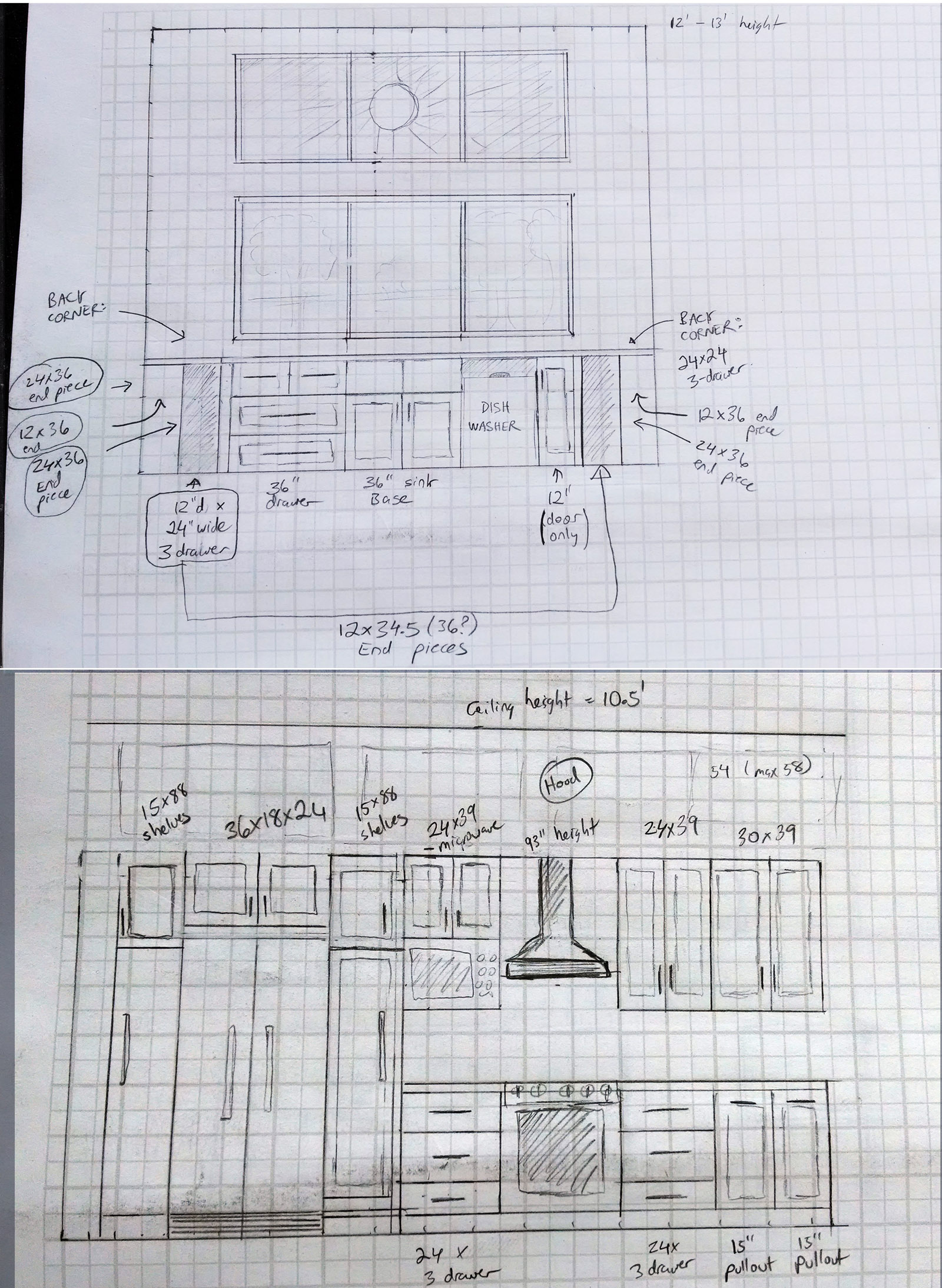Shaving The Costly Edges From A Major Renovation Mr Money Mustache Seeking Advice For Three Way Electrical Wiring Forum Gardenweb My Sketches Of Kitchen Design Note 12 Foot Wall South