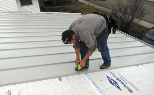 How To Install Your Metal Roof. Here I Am Doing The Most Time Consuming  Task: Screwing Down Every Panel,