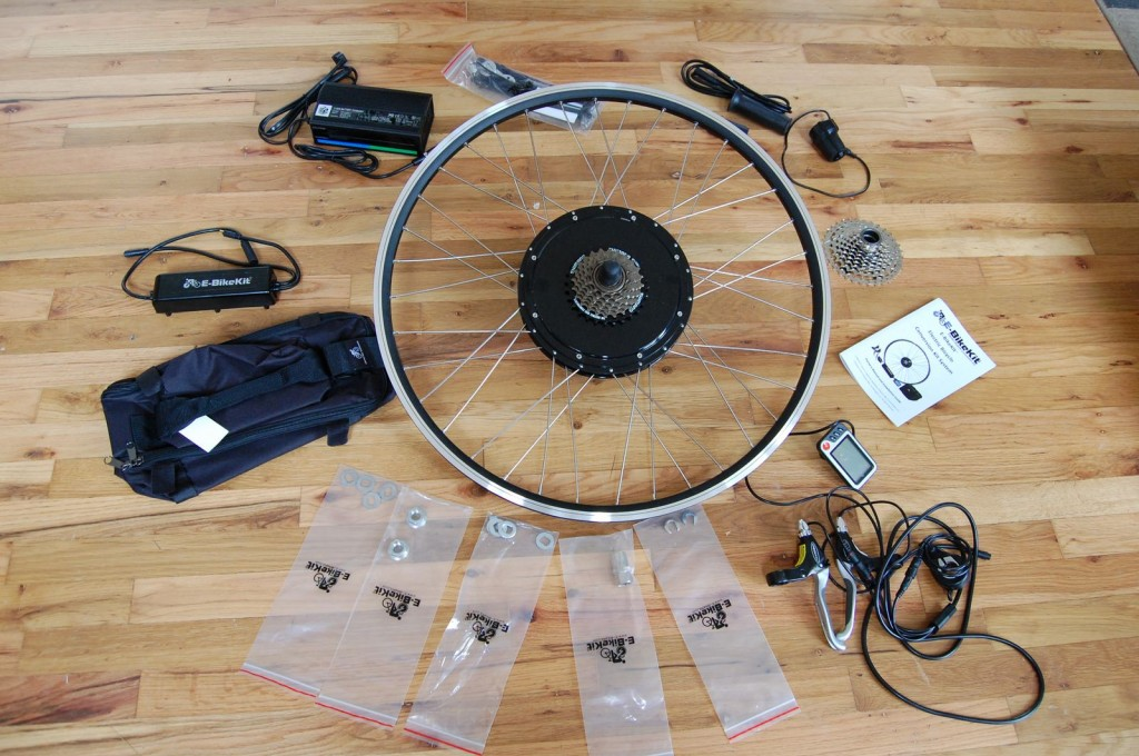Here's the kit I used, from ebikekit.com
