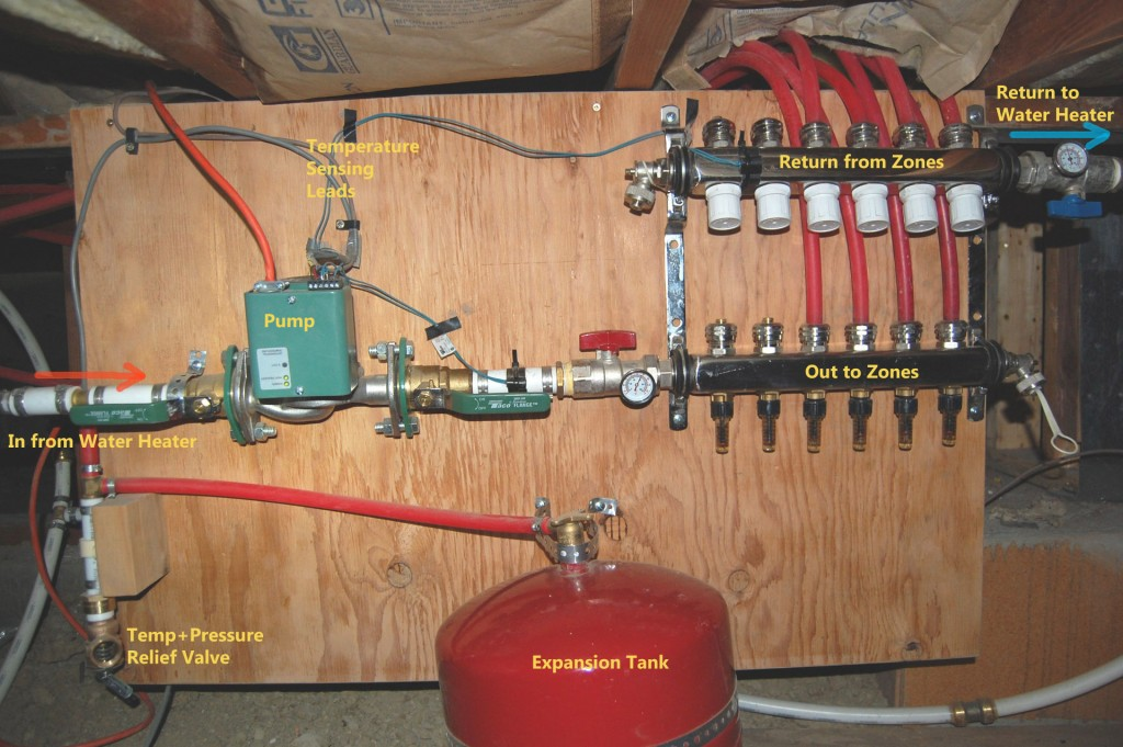 The radiant heat experiment did it work for Pex hot water heating system