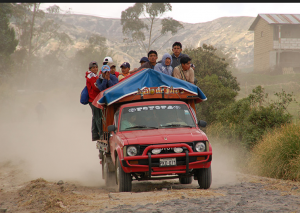 In Ecuador, they know how to use trucks.