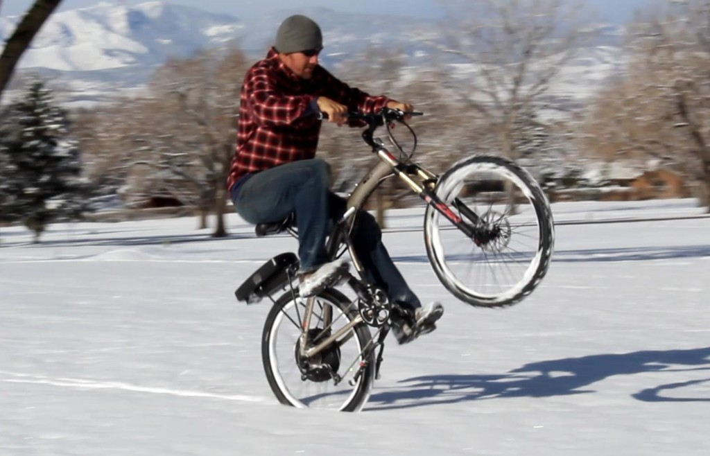 82f96416885 February: some high-speed snow testing with a Prodeco bike on the local  golf course. It was ...