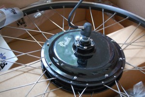 My 500 watt rear wheel from EbikeKit.com