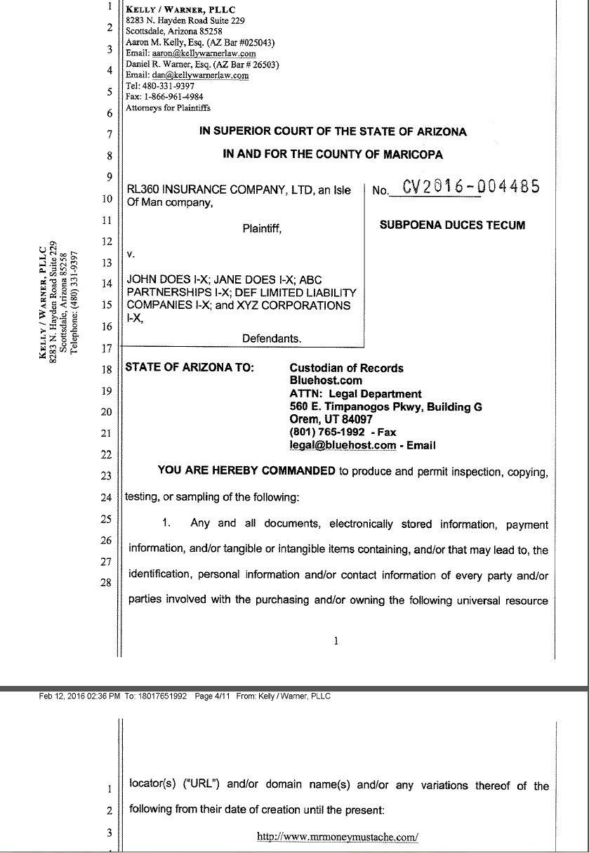 subpoena