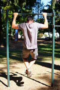 Pull-ups in a public park in Portland this spring.