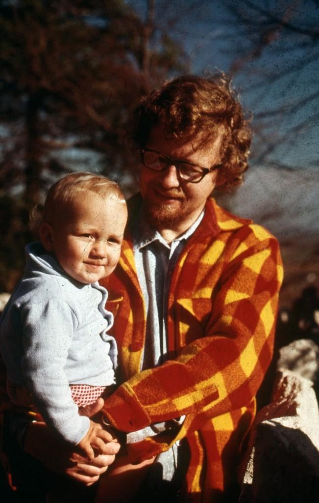 Grandpa MM with son baby MMM, circa 1975.