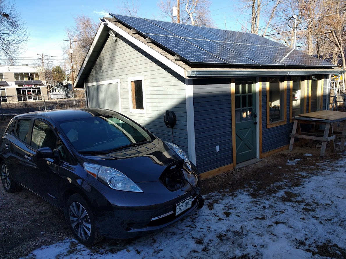 My Diy Solar Power Setup Free Energy For Life Mr Money Mustache 220v Ac Motor Wiring Together With Panels To Batteries The New Array At Mmm Hq Workshop Generates More Than Enough Run Whole Property Year Round Plus Charge Electric Cars Of
